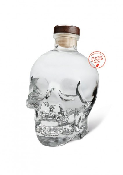 Crystal Head Vodka + 4 Shot Gläser
