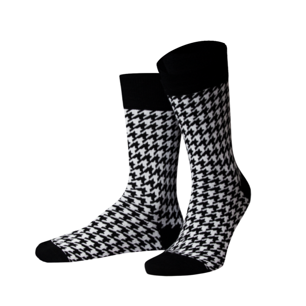 Herrensocken Houndtooth