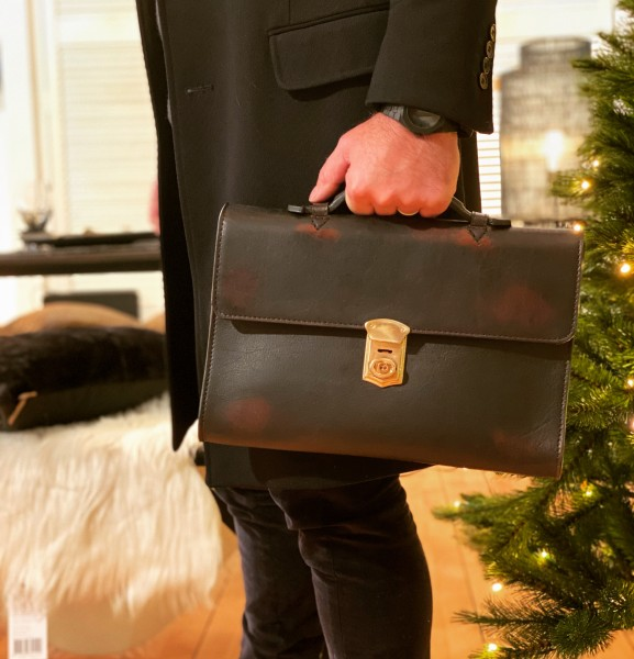 Aktentasche BRIEFCASE BISON D'BROWN klein