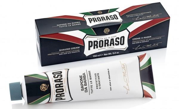 Proraso - Rasiercreme in der Tube - Aloe Vera - BLU