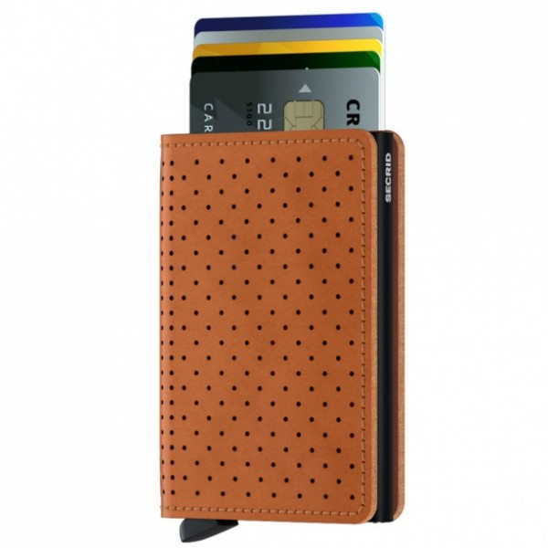 Secrid Slimwallet Perforated Cognac 287018